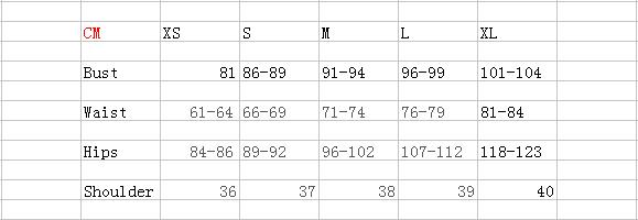 the clothing size form 2
